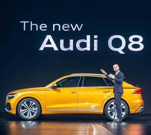 奥迪Q8新车上市外媒传播案例